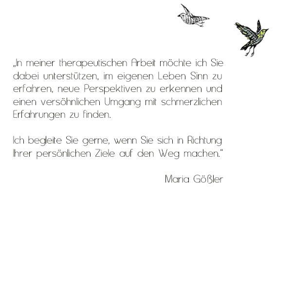 Psychotherapeutin Maria Gößler